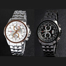 New Luxury Fashion Men Curren Sport Stainless Steel Water Resistant Wrist Watch
