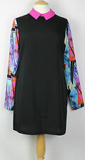 ex George/Asda Tunic Dress, Light Weight Woven Fabric Long Sleeves Printed.