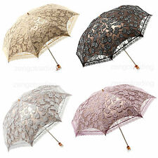 Women beautiful Lace Anti-UV folding Parasol/Umbrella for Sun protection party