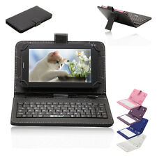 "Luxury 7"" Universal Micro USB Keyboard Case Stand Cover for Tablet PC Phablet"