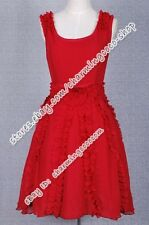 Harry Potter And The Deathly Hallows Hermione Granger Costume Red Vest Dress Hot