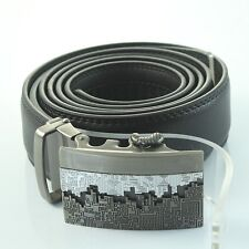 High-grade Mens Business Automatic Alloy Buckle Genuine Leather Waist Strap Belt
