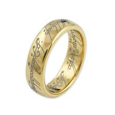"Original Lord of the Rings Jewelry ""The One Ring"" 585 gold plated tungsten"