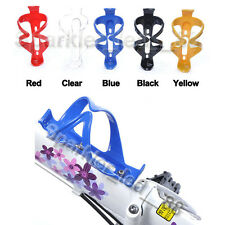 2Pcs Cycling Spots Bike Bicycle Plastic Drink Water Bottle Holder Cage Rack New