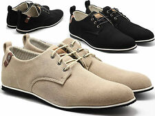 Mens Smart Suede Shoes Casual Lace Up Formal Oxford Brogues London Gatsby Loafer