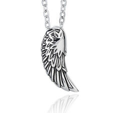 Janeo Mens Fashion Pendant Necklace Angel Wing Stainless Steel Gift For Him