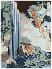6106.Japanese village.mountain side.water fall.by the bay.POSTER.Home Office art