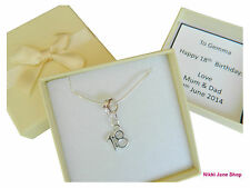 Silver Plated Age Necklace - 16th 18th 21st 30th 40th 50th Personalised Gift Box