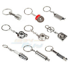 New Quality Car Spare Parts Metal Chrome Car Key Ring Fob Keyring