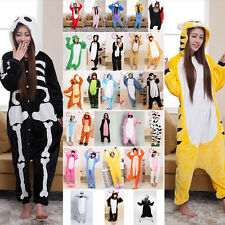 Unisex Adult Pajamas Kigurumi Cosplay Costume Animal Onesie Sleepwear 30 Styles