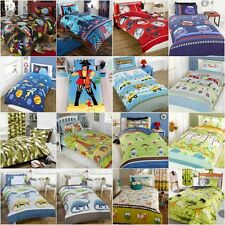 Children's Boys Novelty Bedding Sets Duvet/Quilt Cover Pillowcase **16 Designs**