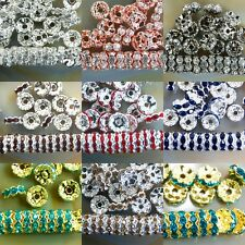 4mm 5mm 6mm 8mm 10mm 100Pcs Czech Crystal Rhinestone Wavy Side Spacer Beads
