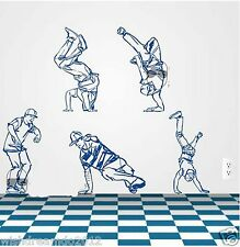 Dancer Hip-hop  wall decal art sticker living room decor Dancing Classrooms