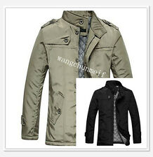 Korean men's Slim thin section long padded jackets coats outerwear