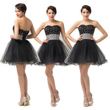 CHEAP Bridesmaid Wedding Homecoming party prom ball evening formal dress Black