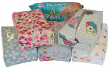 BABY WIPES COVER/POUCH MADE IN DESIGNER OIL CLOTHS *STANDARD OPENING*