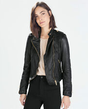 ZARA WOMAN TRF LEATHER BIKER JACKET 4720/021 COLLECTION AW14 NEW SEASON 2014