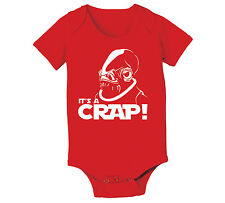 Its A Crap funny trap star wars newborn baby humor cute Red Baby One Piece