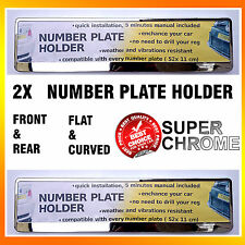 A PAIR OF NEW SUPER CHROME TAPORT NUMBER PLATE SURROUNDS HOLDERS FRAMES ANY CAR