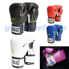 Everlast Style Boxing Training Gloves Blue Red White Black Pink 10 12 14 16 oz