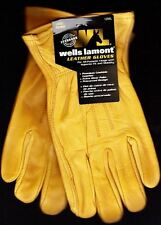 3 Pairs-Wells Lamont Genuine Cowhide Premium LEATHER Professional Work Gloves