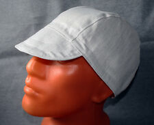Cap for Welders and Pipefitters, Welding Cap Hat for Work - Light Gray/White