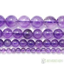 Natural Grade AAA Lavender Amethyst Gemstone Round Beads 4mm 6mm 8mm 10mm 15.5''