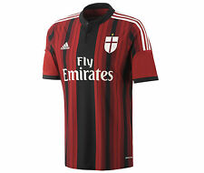 adidas AC Milan 2014-2015 Home Soccer Jersey Brand New Red / Black