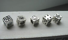 Cube Tibetan silver dreadlock hair braid weaves beads 5mm hole approx UK sale
