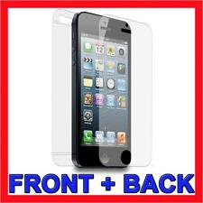 Front & Back Ultra Clear Full Cover LCD Screen Protector for Apple iPhone 5S 5