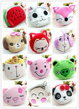 Woman kid girl fashion short plush mini zip coin wallet purse Makeup pouch bag W