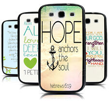 Christian Bible Verse Quote with Anchor Hard Case For Samsung Galaxy s3 s4 s5