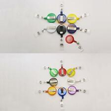 Reels Retractable Badge Clip Solid Clear with Belt Clip Ring Pull Holder Recoil