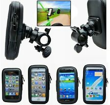 Waterproof Rotating Bicycle Motor Bike Handle Bar Holder Case For Mobile Phones