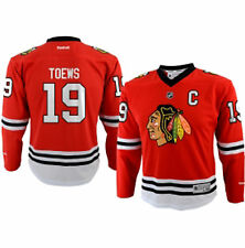 Youth Chicago Blackhawks #19 Jonathan Toews Replica Jersey Printed NHL Reebok
