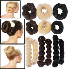 2pcs Magic Blonde Donut Hair Ring Bun Former Shaper Hair Styler Maker Tool