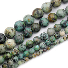 Natural African Turquoise Gemstone Round Beads 16'' 4mm 6mm 8mm 10mm 12mm