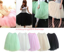 Fashion Dress 5 Colors Fairy Style 5 layers Tulle Bouffant Skirt Women Princes