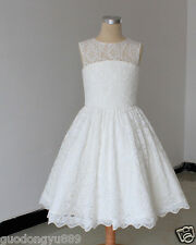 NEW FLOWER GIRL DRESS PAGEANT WEDDING BRIDESMAID DANCE PARTY (Can be customized)