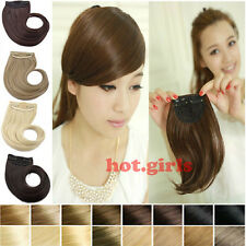Long Side Bangs Neat Fringe Clip On Hair Extension USA wonderful Hairstyles