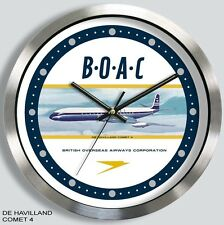 BOAC WALL CLOCK DE HAVILLAND COMET VICKERS VC-10 or BEA HS-121 TRIDENT metal