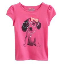 New Jumping Beans 2T 3T 4T Puppy Dog Glasses Necklace Pink shirt