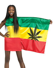 Rasta Girl 420 Weed Flag Womens Sexy Bob Marley Holiday Party Costume S-L