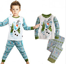 Frozen Olaf Unisex 2PCS Kids Boys Girls Suit Sleepwear Homewear Pajama Set Gift