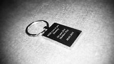 PERSONALISED ENGRAVED KEYRING'S WITH PHOTOGRAPH AND TEXT -GIFT