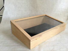 EXTRA LARGE OAK DISPLAY CASE,CABINET, TABLE TOP DISPLAY