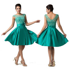 2014 Satin & Lace Ball Cocktail Graduation Evening Prom Party Bridesmaid Dresses