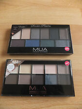 MUA Make Up Academy ~10 Colour Eyeshadow Palette  - Free UK P&P