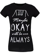New The Fault In Our Stars Maybe Okay Will Be Our Always Ladies Black T-Shirt