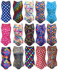 Gymnastics Gym Leotard Sleeveless Patterned and Plain Lycra Dance Leotard - UK